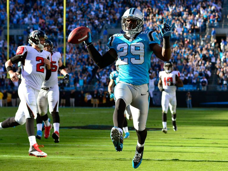 Drayton Florence races in for a Panthers touchdown