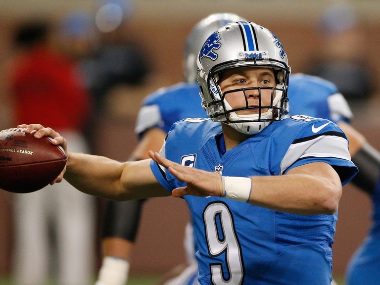 Matthew Stafford has the potential for a long scoring play for the Lions