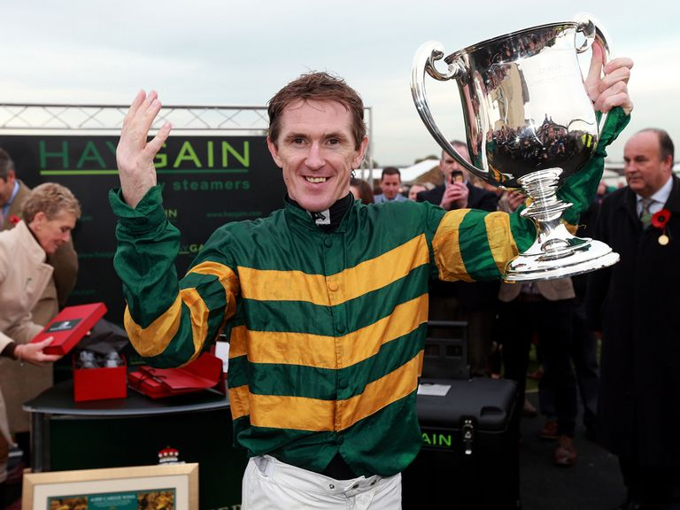 AP McCoy could be celebrating again after his ride on Milan Bound