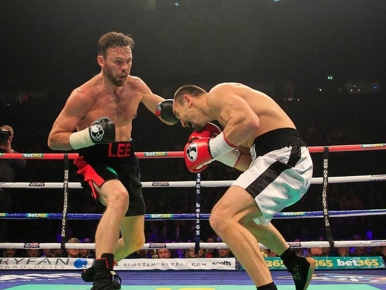 Andy Lee (L): Called out Matthew Macklin following win