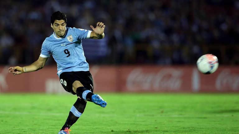 Luis Suarez: Will meet England in Sao Paolo