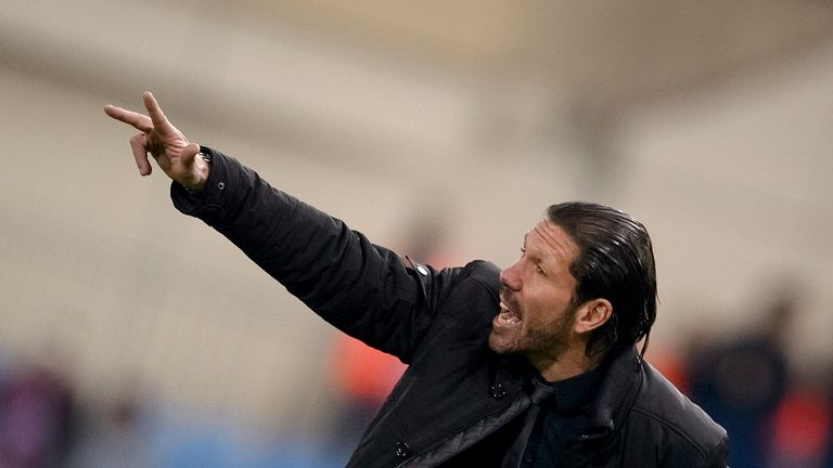Diego Simeone: Saw Atletico Madrid net an away goal in the San Siro