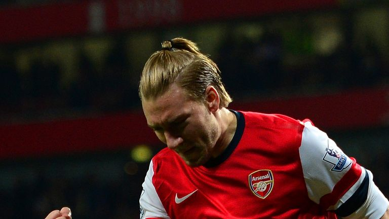 Nicklas Bendtner: Relieved to find the net