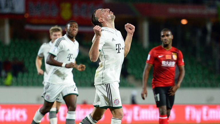 Franck Ribery: Celebrates his opener for Bayern