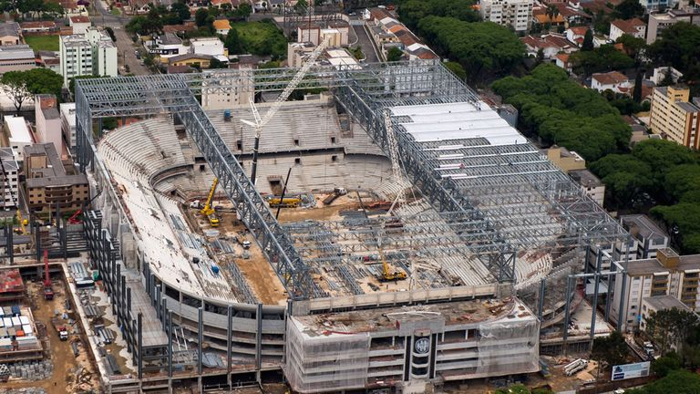 Curitiba Stadium: One of the three World Cup venues behind schedule