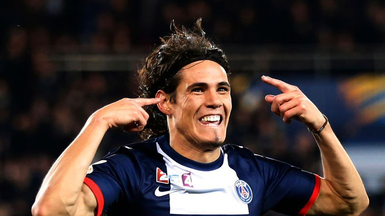 Edinson Cavani: Happy at Paris Saint-Germain