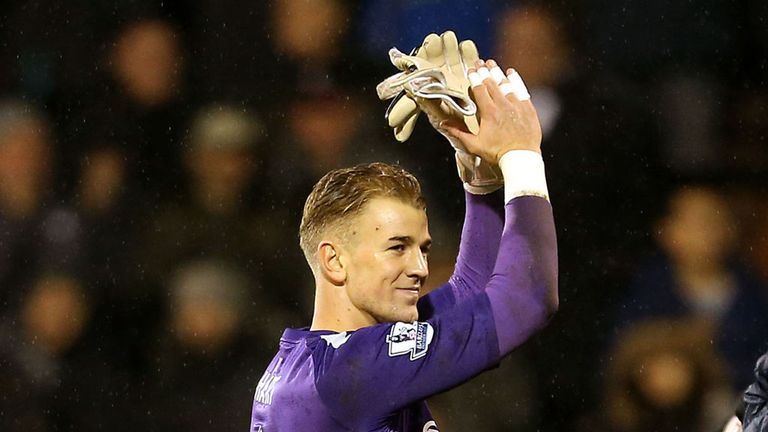 Joe Hart: Set to keep his place for Boxing Day clash with Liverpool