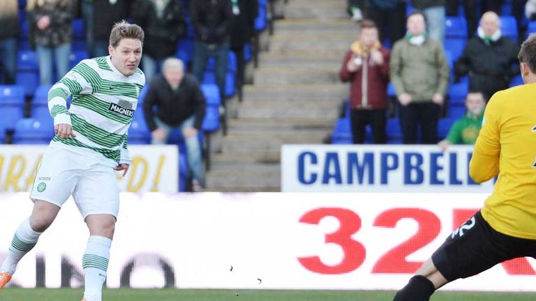 Kris Commons: Scores the only goal of the game as Celtic beat Inverness