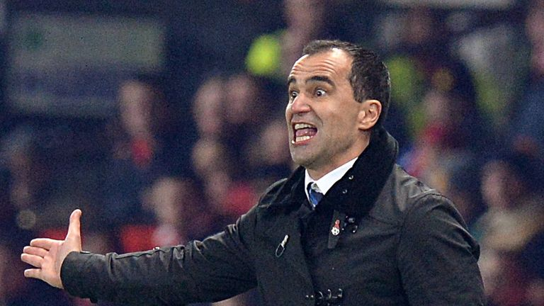 Roberto Martinez: Delighted with Everton's recent form