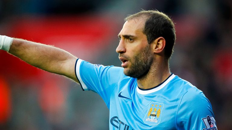 Pablo Zabaleta: Urging caution after Man City's win over Aston Villa