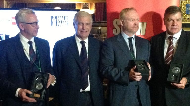 Recognition: Alan Pardew, Sir Trevor Brooking, Alex McLeish and Sam Allardyce
