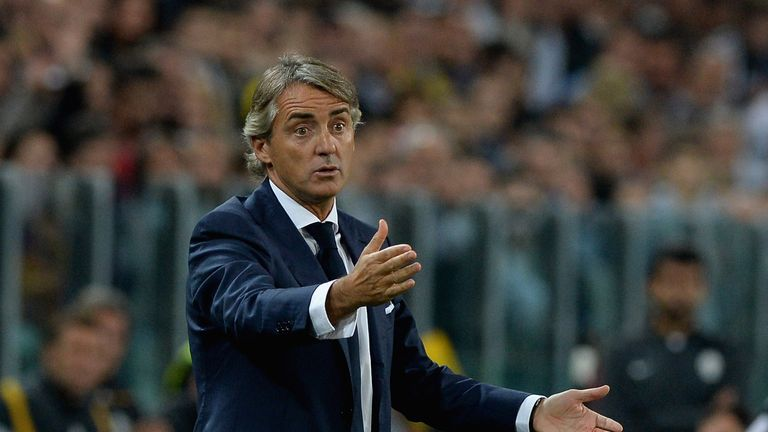 Roberto Mancini: Relying on Didier Drogba and Wesley Sneijder against Chelsea