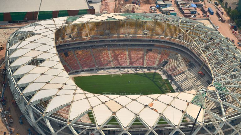 Arena da Amazonia: Worker has been killed in accident at World Cup stadium
