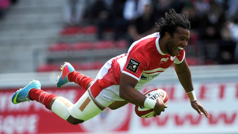 Teddy Thomas scored two tries for Biarritz in Thursday's win over the Worcester Warriors