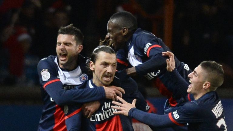 Zlatan Ibrahimovic was on target or PSG