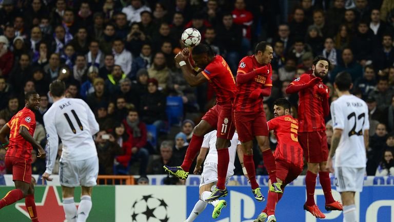 Gareth Bale netted a free-kick against Galatasaray as Real Madrid eased through Group B