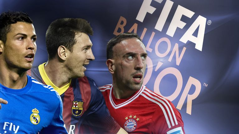 Ronaldo, Messi and Ribery on Ballon d'Or shortlist Ballon-dor-fifa-shortlist_3049239