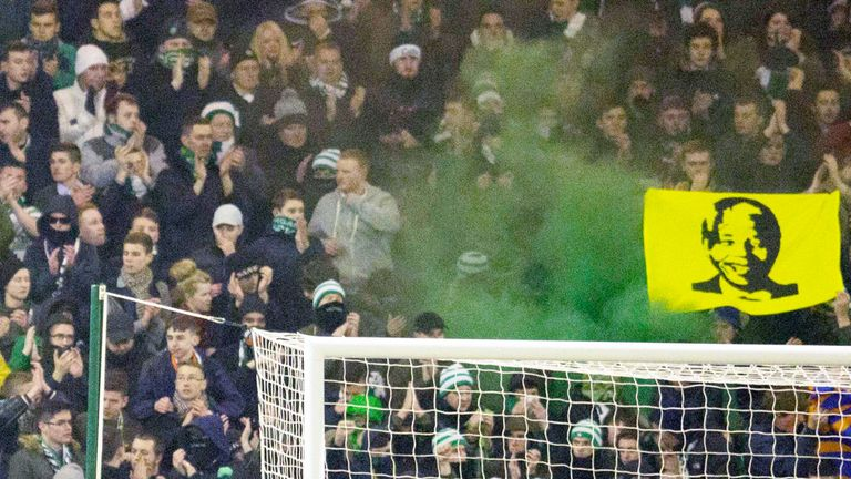 Celtic fans let off smoke bombs at Fir Park
