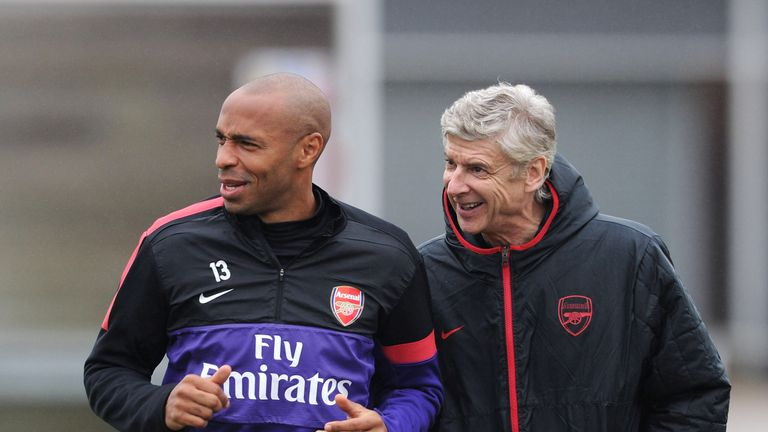 Thierry Henry: Delighted to see Arsene Wenger stay at Arsenal
