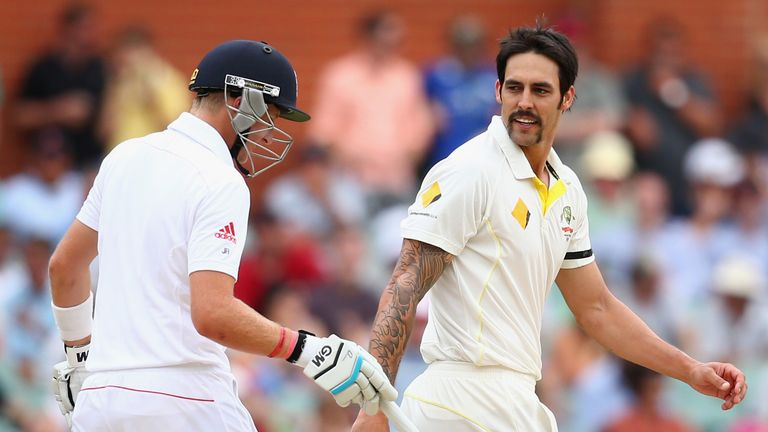 Mitchell Johnson: Australia seamer has words with England's Joe Root