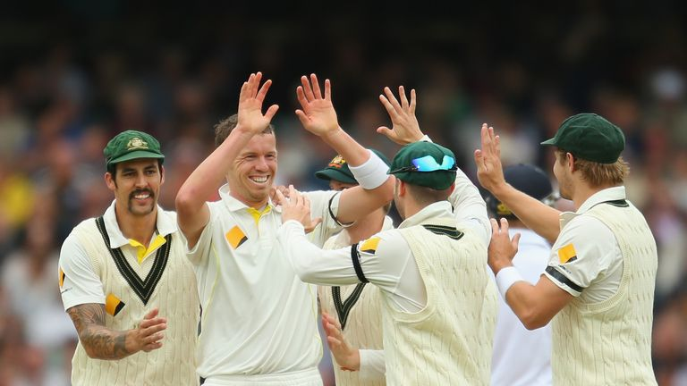 Peter Siddle took two wickets on final day in Adelaide to hasten England's demise