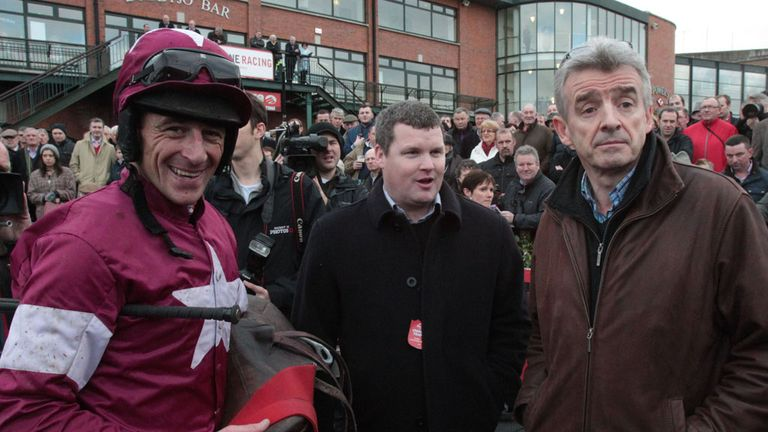 Davy Russell (l): Has picked up the ride on Western Boy