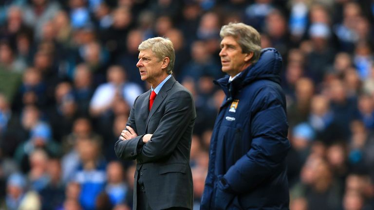 Arsene Wenger and Manuel Pellegrini lock horns at the Emirates