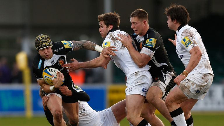Jack Nowell: Exeter wing tries to make some forward progress