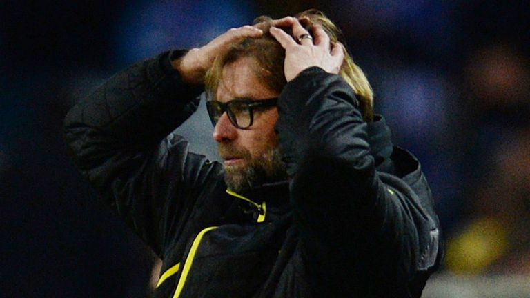 Jurgen Klopp: Not happy with his men