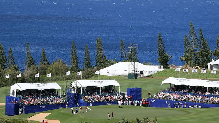 The spectacular Plantation Course at Kapalua plays host to Hyundai Tournament of Champions