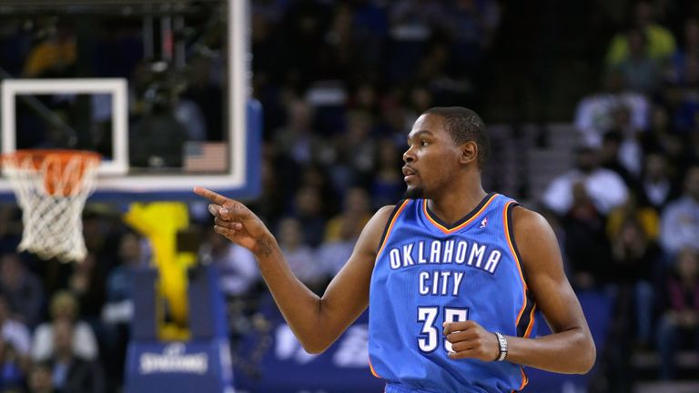 Kevin Durant: Scored 27 points for the Oklahoma City Thunder