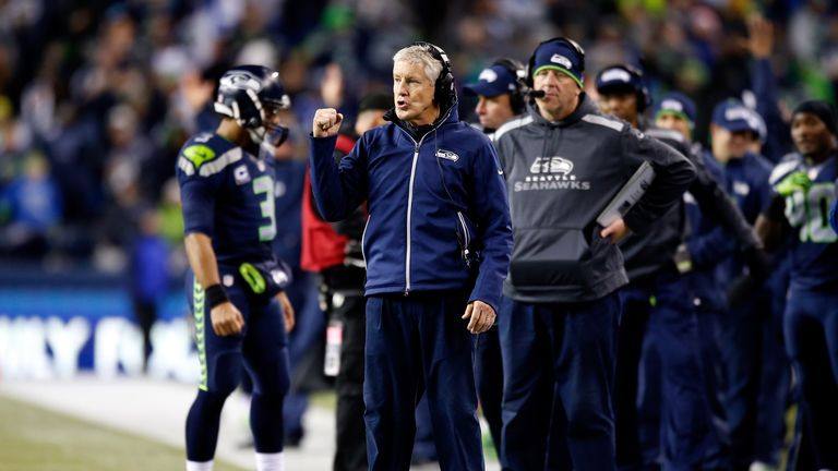 Pete Carroll: His Seahawks' side could clinch the NFC West division with victory over Arizona on Sunday