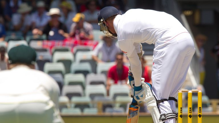 Stuart Broad suffered the injury when he was hit - and dismissed lbw - by a Mitchell Johnson yorker