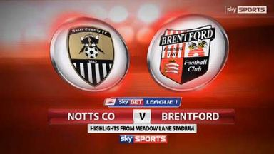 Notts Co 0-1 Brentford