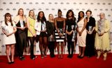 The winners pose with their trophies at the end of the Sportswomen of the Year awards at Sky Studios