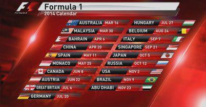 19-race calendar for 2014