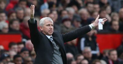 Alan Pardew: Victorious at Old Trafford