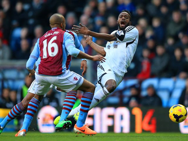 Roland Lamah screams at Villa Park