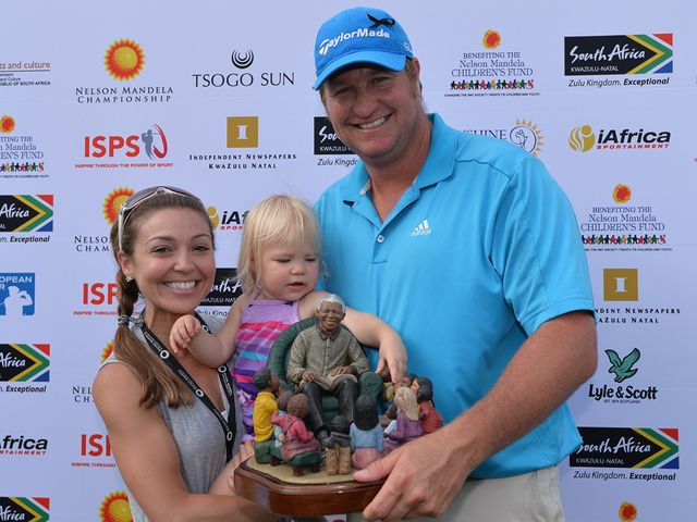 Dawie van der Walt and family celebrate.