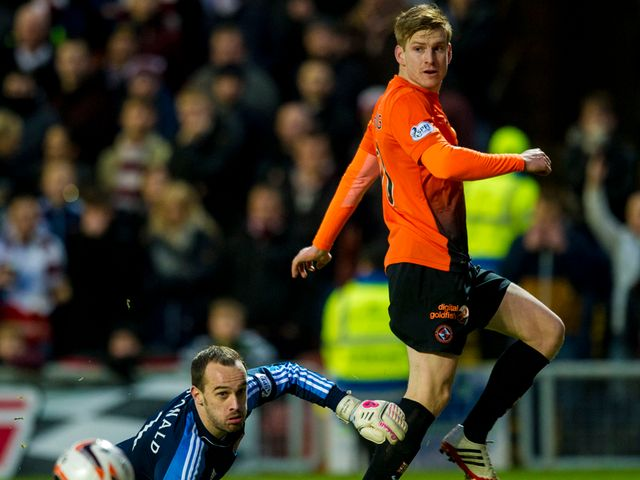 Dundee United's Stuart Armstrong opens the scoring