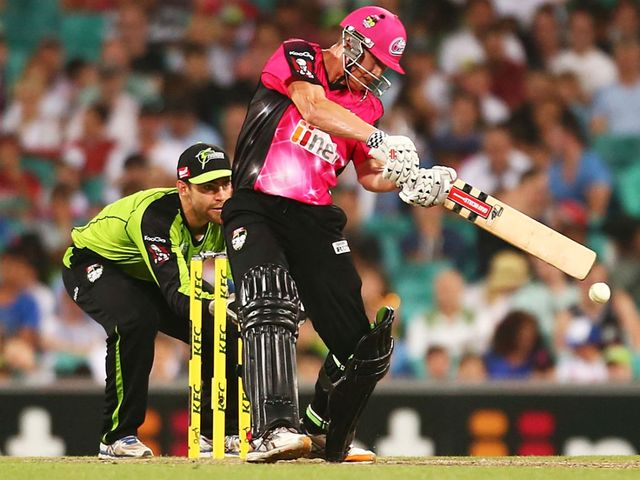 Nic Maddinson: Smashed an impressive 61 runs for the Sydney Sixers