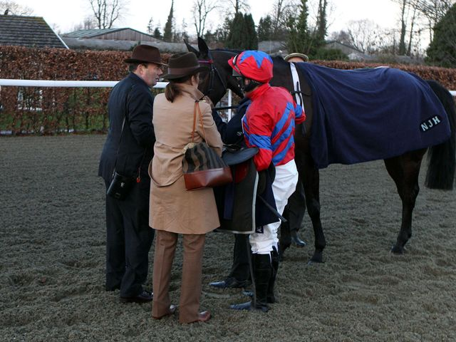 Nicky Henderson with Sprinter Sacre after the race