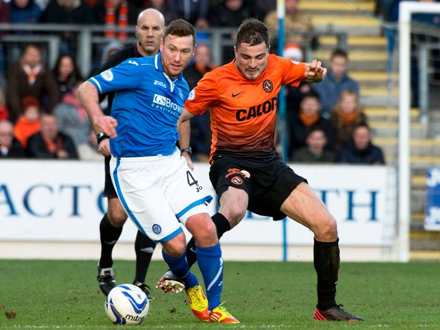Paddy Cregg is closed down by Paul Paton