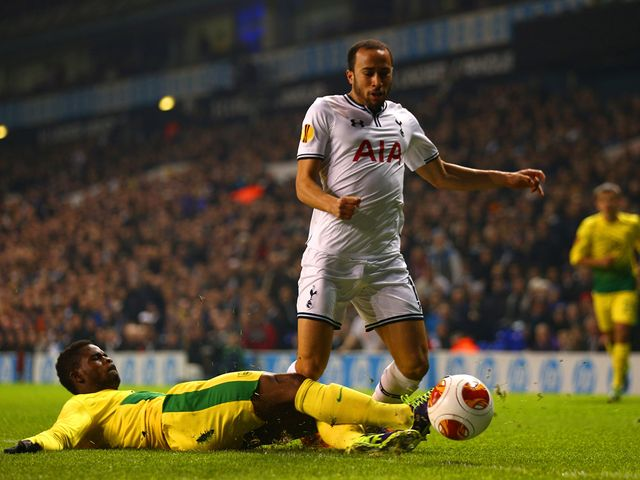 Andros Townsend falls to the ground.