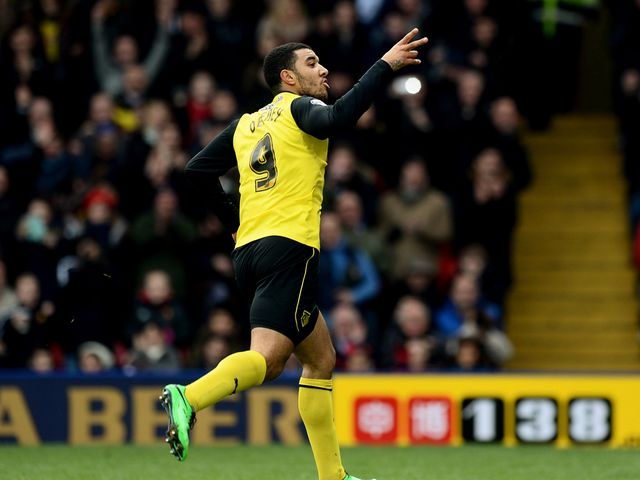 Troy Deeney of Watford celebrates