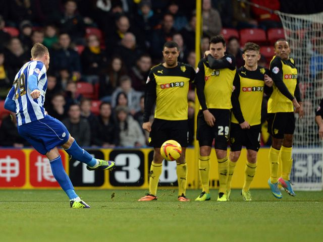 Connor Wickham of Sheffield Wedneday shoots on goal