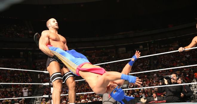 Spinning around: Cesaro takes charge of one half of Los Matadores