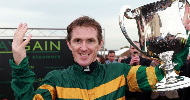 AP McCoy celebrates his 4000th winner