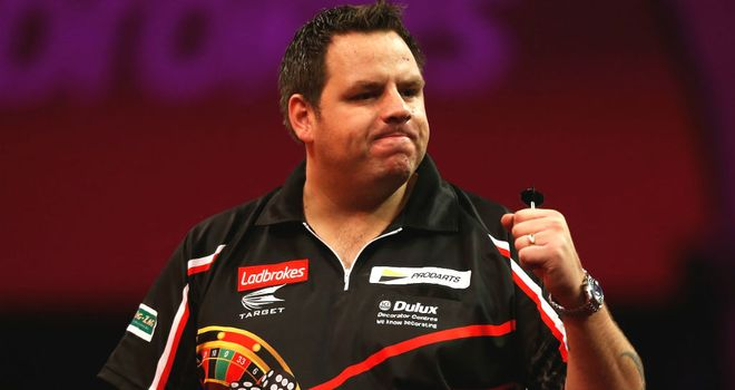 Adrian Lewis takes on James Wade for a place in the semi-finals