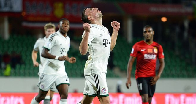 Franck Ribery: Celebrates his opener for Bayern